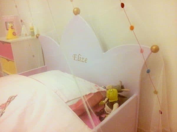 #1 wildkidzz kinderbed kroonbed roze met klamboe