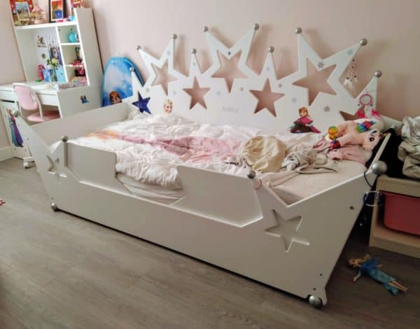 #1 Kinderbed sterrenbed 90x200 cm wit