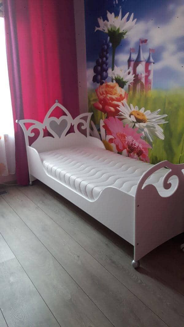Prinsessenbed 90x200 cm met lage zijkanten meisjesbed