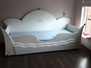 Prinsessenbed kroon bedbank 90x200 cm