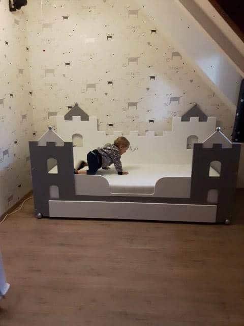 Jongensbed kasteelbed bank 90x200 cm kinderbedden
