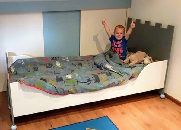 #3 kinderbed kasteelbed 90x200 cm jongensbed