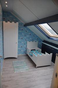 Kasteelbed 90x200 cm jongensbed met een-deurs kasteel kinderkast