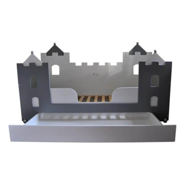 jongensbed kasteelbed bank 90x200 cm met lade