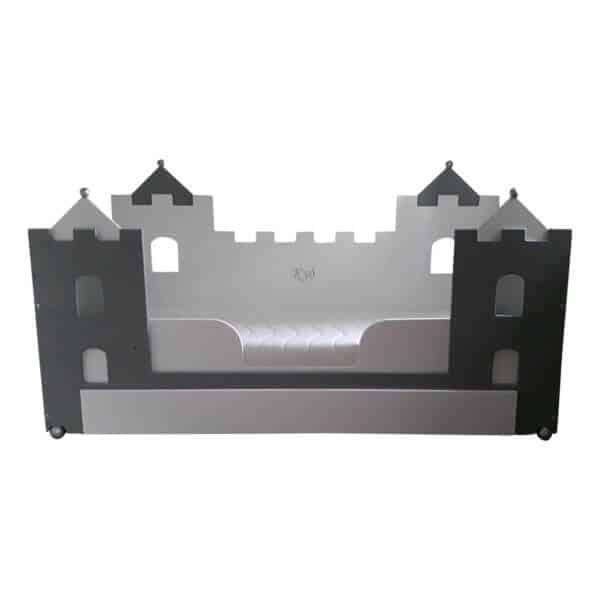 jongensbed kasteelbed origineel design 90x200 cm wit met antraciet combinatie