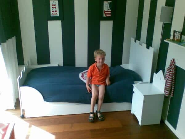 kasteel jongensbed 90x200 cm wit