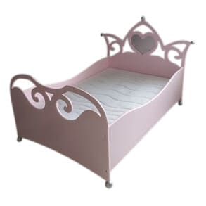 Prinsessenbed 100x150 cm roze het mooiste meisjesbed met zilver