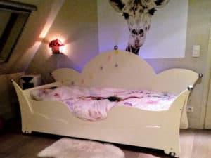 #1 Kinderbed kroon bedbank 90x200 cm wit, kinderkamer decoratie