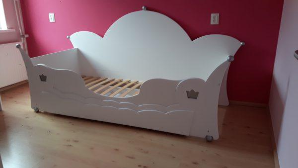 Prinsessenbed bedbank 90x200 cm kroonbed