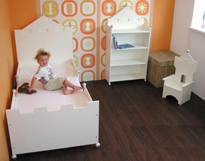 Voor de jongenskamer: het kasteel jongensbed, boekenkast