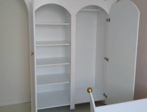 #2 Kinderkast 2-deurs met hartjes standaard indeling