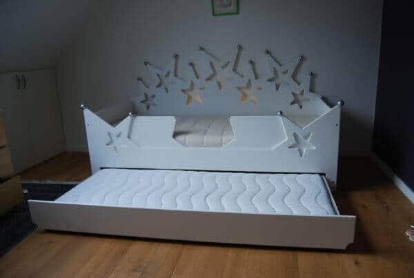 Bedlade met matras voor sterrenbedbank