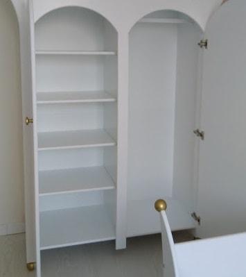 #2 Kinderkast 2-deurs standaard indeling