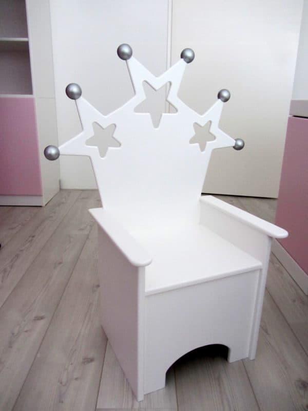 #2 Kinderstoeltje sterren wit met zilver