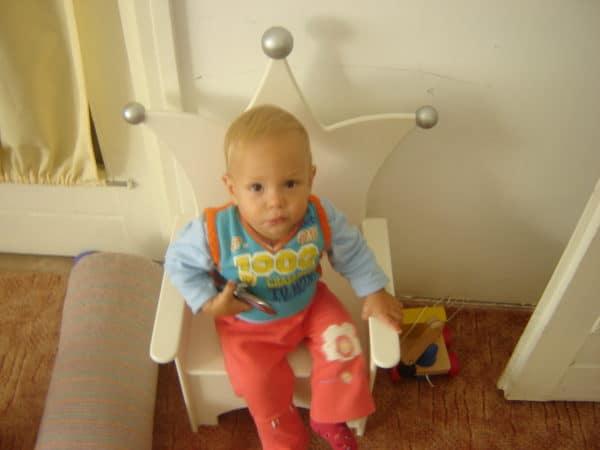 #1 Kinderstoeltje met baby wat een schatje