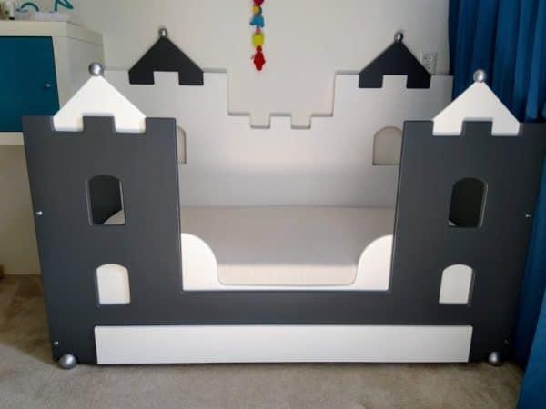 Kinderbed kasteelbedbank 70x150 cm juniorbed peuterbed
