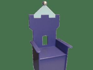 #1 Kinderstoeltje kasteel blauw sierlijk in de kinderkamer