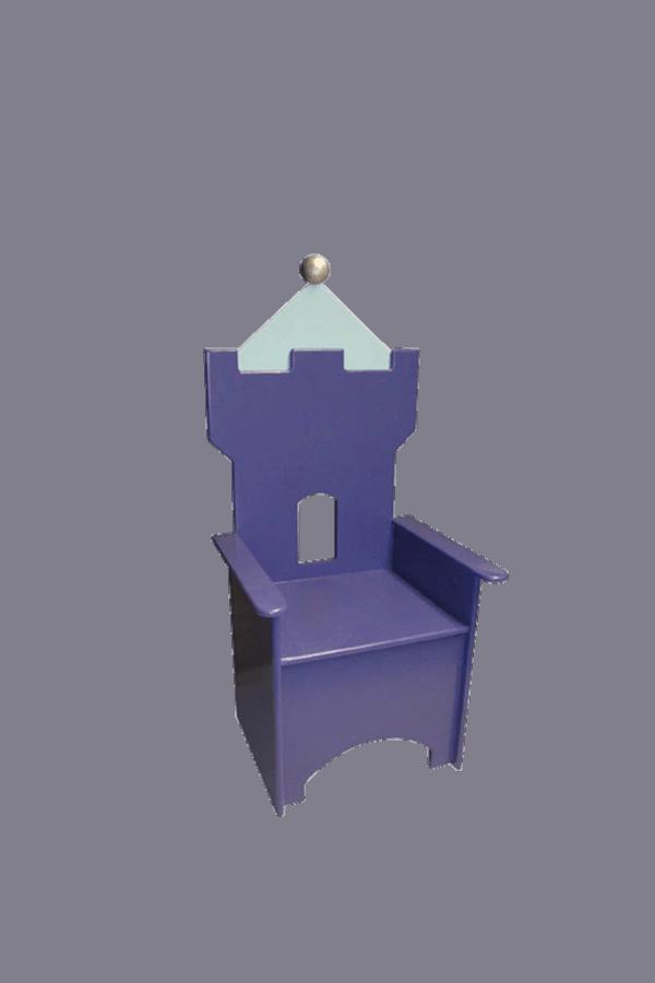 Kinderstoel kasteel voor in de kasteel kinderkamer