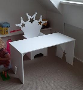 Sterren kinderstoeltje met kindertafel wit
