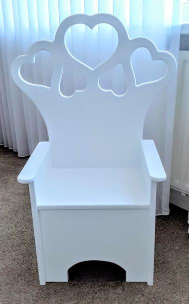 Kinderstoel ZOE wit zithoogte 30 cm
