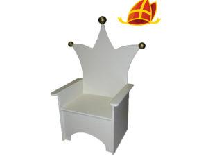 Sintcadeau kinderstoel met kroon kroontje wit
